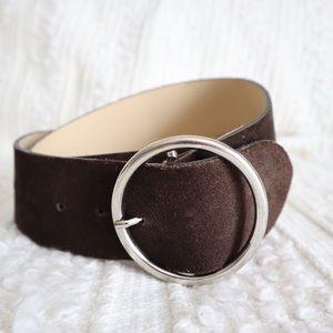 Sisley suede circle belt